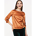 cheap Bracelets-Women's Going out Blouse - Solid Colored Modern Style / Satin