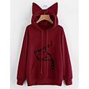 preiswerte Zeichentrick - Kapuzenpullover & Pullover-langärmliger Hoodie für Damen - geometrisch mit Kapuze