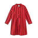 povoljno Majice za djevojčice-Djeca Djevojčice Aktivan Prugasti uzorak Dugih rukava Haljina Red 150