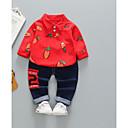 ieftine Set Îmbrăcăminte Băieți Bebeluși-Bebelus Băieți Activ Zilnic Imprimeu Manșon Lung Regular Poliester Set Îmbrăcăminte Trifoi 100 / Copil