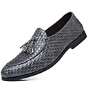 cheap Men's Slip-ons & Loafers-Men's Dress Shoes Faux Leather Spring / Fall British Loafers & Slip-Ons Black / Gray / Wine / Tassel / Party & Evening