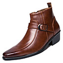 cheap Men's Boots-Men's Fashion Boots PU(Polyurethane) Spring Boots Black / Brown