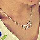 preiswerte Moderinge-Damen Retro / Stilvoll Ketten / Halskette - Kreativ, Handschellen Einfach, Retro, Modisch Silber 40 cm Modische Halsketten 1pc Für Alltag, Bar