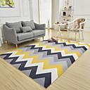 זול שטיחים-שטיחון לדלת כניסה צורות גיאומטריות polyster, מלבני איכות מעולה שָׁטִיחַ