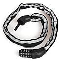 זול מחזיקים ומרכבים-מנעול אופניים רכיבה על אופניים, אבטחת נעילה, בטיחות אופנייים / אופנוע / אופניים מתקפלים בַּרזֶל / ABS כסף /  שחור