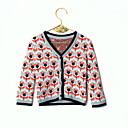 זול אוברולים טריים לתינוקות-סוודר וקרדיגן שרוול ארוך פרחוני בנות תִינוֹק