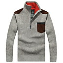 cheap Men's Athletic Shoes-Men's Long Sleeve Cardigan - Solid Colored