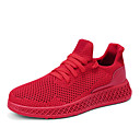 cheap Men's Athletic Shoes-Men's Comfort Shoes Knit / Mesh Summer Sporty / Casual Athletic Shoes Running Shoes / Walking Shoes Breathable Black / Gray / Red