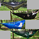 cheap Camping Furniture-Camping Hammock with Mosquito Net Outdoor Lightweight, Breathability Nylon for Hiking / Camping / Travel - 2 person Black / Dark Green /