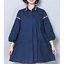 ieftine Cercei la Modă-Pentru femei Guler Cămașă - Mărime Plus Size Cămașă Bumbac Mată