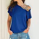preiswerte Armbänder-Damen Solide Übergrössen T-shirt, Schulterfrei / Sommer