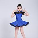 abordables Ropa para Baile Latino-Baile Latino Vestidos Chica Rendimiento Poliéster Encaje / Combinación Manga Corta Cintura Alta Vestido
