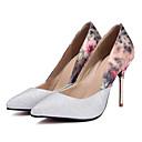 זול נעלי עקב לנשים-בגדי ריקוד נשים סינטטיים אביב נוחות עקבים עקב סטילטו זהב / שחור / כסף / יומי