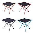 cheap Camping Furniture-Camping Table Outdoor Lightweight, Portable, Folding Oxford Cloth, Aluminium for Hiking / Beach / Camping Black / Orange