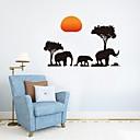 levne Samolepky na zeď-Ozdobné samolepky na zeď - Zvířecí nálepky na zeď Zvířata Obývací pokoj / Ložnice / Koupelna