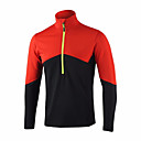 cheap Cycling Jerseys-Men's Long Sleeve Cycling Jersey Red Green Blue Solid Color Bike Jersey Top Breathable Quick Dry Sports Polyester Taffeta Mountain Bike MTB Road Bike Cycling Clothing Apparel