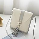 ราคาถูก กระเป๋าสะพายข้าง-สำหรับผู้หญิง กระเป๋าต่างๆ PU กระเป๋าสะพาย พู่ สีแดงชมพู / สีเทาอ่อน / สีน้ำตาล