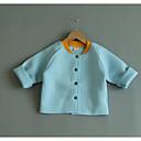 ieftine Costum Baie Fete-Copii Fete Șic Stradă Bloc Culoare Manșon Lung Poliester Jachetă & Haină Albastru piscină 100