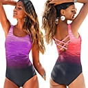 cheap Wetsuits, Diving Suits & Rash Guard Shirts-Women's One Piece Swimsuit Chlorine resistance, Lightweight, Quick Dry Nylon / Spandex Sleeveless Swimwear Beach Wear Bodysuit Reactive Print Swimming / Surfing / Stretchy
