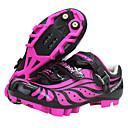 abordables Zapatos de Ciclismo-SIDEBIKE Calzado para Mountain Bike Fibra de Carbono A prueba de resbalones, Transpirable Ciclismo Violeta Mujer