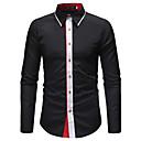 billige Skjorter-Skjorte Herre - Ensfarget / Blomstret Forretning / Grunnleggende Arbeid / Langermet