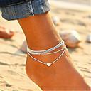 preiswerte Kuchenbackformen-Damen Seil Stapelbar Knöchel-Armband - Herz damas, Urlaub, Europäisch, Modisch Schmuck Silber Für Alltag