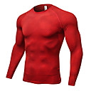 cheap Running Shirts, Pants & Shorts-Men's Yoga Top Sports Leopard Spandex Tee / T-shirt For Running, Fitness, Gym Long Sleeve Activewear Breathable, Quick Dry, Compression High Elasticity Black / Red / Blue