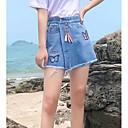 abordables Pelucas Sintéticas de Malla-las mujeres salen por encima de la rodilla una línea de faldas - color sólido