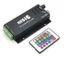 baratos Artigos de Festas-4a 3 canais RGB levado inteligente controlador IR música com controle remoto multifuncional para rgb conduziu a lâmpada de tira (12v-24v)