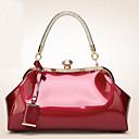 abordables Colgantes y Ornamentos para Coche-Mujer Bolsos Cuero Patentado Tote Detalles de Cristal / Un Color Rosa / Fucsia / Wine