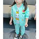 povoljno Kompletići za bebe-Dijete Djevojčice Osnovni Dnevno Jednobojni / Geometrijski oblici Dugih rukava Regularna Pamuk / Poliester Komplet odjeće Blushing Pink 100