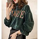 billige Hættetrøjer og sweatshirts til damer-Dame Rund hals Sweatshirt - Bogstaver