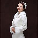 povoljno Stole za vjenčanje-Dugih rukava Umjetno krzno Vjenčanje / Kamado roštilj Ženski ogrtač S Pendant Bolera