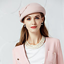 cheap Wedding Decorations-100% Wool Hats with Bowknot 1pc Wedding / Party / Evening Headpiece