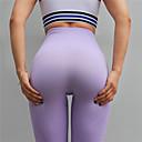 abordables Ropa para Baile de Salón-Mujer Pantalones de yoga - Rojo, Verde, Violeta Deportes Color sólido Tiro Alto Leggings Danza, Fitness, Rutina de ejercicio Ropa de Deporte Compresión, Relleno Elástico
