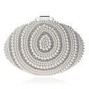 ieftine Seturi Genți-Pentru femei Genți PVC / Aliaj Geantă Seară Detalii Perlă Alb lăptos