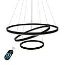 billige Hengelamper-UMEI™ Sirkelformet Lysekroner Omgivelseslys Malte Finishes Aluminum Akryl Kreativ, Justerbar, Mulighet for demping 110-120V / 220-240V Hvit / Dimbar med fjernkontroll / Wi-Fi Smart / FCC