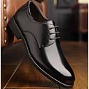 رخيصةأون أحذية سليب أون وأحذية مفتوحة للرجال-للرجال جلد ربيع & الصيف مريح أوكسفورد أسود