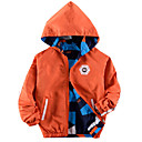 ieftine Seturi Îmbrăcăminte Băieți-Copii Băieți De Bază Geometric Manșon Lung Bumbac / Poliester Jachetă & Haină Albastru piscină 140