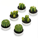 ieftine Lumânări & Suport de Lumânări-stil simplu cactus lumânări 6pcs