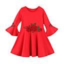 ieftine Seturi Îmbrăcăminte Fete-Copii Fete Mată / Floral Manșon Lung Rochie