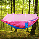 cheap Camping Furniture-Camping Hammock with Mosquito Net Outdoor Lightweight, Portable, Anti-Mosquito Nylon for Camping / Hiking / Travel / Outdoor Fuchsia