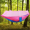 preiswerte Kunstblume-Campinghängematte mit Moskitonetz Außen Leicht, Atmungsaktivität Nylon für Wandern / Camping - 2 Personen Rosa / Gelb / Dunkelgrün