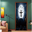 cheap Wall Stickers-Door Stickers - 3D Wall Stickers / Holiday Wall Stickers Animals / Halloween Decorations Living Room / Bedroom