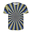 billige Motearmbånd-T-skjorte Herre - Fargeblokk, Trykt mønster Grunnleggende / Gatemote Svart og hvit