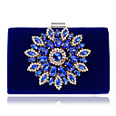 cheap Clutches & Evening Bags-Women's Bags Velvet / Alloy Evening Bag Crystals Blue / Black / Red