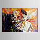 povoljno Apstraktno slikarstvo-Hang oslikana uljanim bojama Ručno oslikana - Ljudi Moderna Bez unutrašnje Frame / Valjani platno