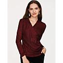 preiswerte Modische Halsketten-Damen Grundlegend T-shirt, V-Ausschnitt