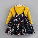 ieftine Set Îmbrăcăminte Bebeluși-Bebelus Fete De Bază Zilnic Imprimeu Manșon Lung Regular Poliester Set Îmbrăcăminte Trifoi 110 / Copil