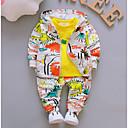 ieftine Baby Boys' One-Piece-Bebelus Băieți De Bază Zilnic Imprimeu Manșon Lung Regular Regular Poliester Set Îmbrăcăminte Portocaliu 100 / Copil